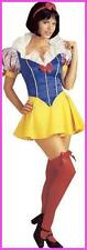 Costume Donna Halloween Biancaneve Abito Completo TG 42-48