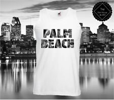 Palm Beach Mens Vest Tank Top Hipster Urban Summer Shop Fashion Hype Swag Dope