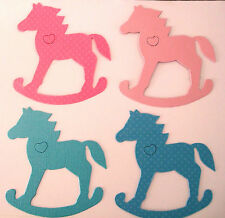 Die-cut shapes- Rocking  Horses-Blue and Pink Children/Baby Own