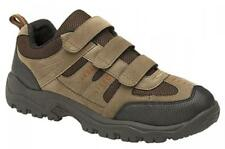 ASCEND Mens Touch Close Scuff Cap Padded Outdoor Hiking Trek Trail Shoes Khaki