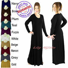 Ladies Plain Slim Fitted Jersey Abaya/ Borka/ Long Dress