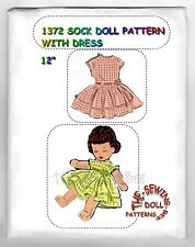 Cute! Sock Rag - Cloth doll Pattern with Dress 12