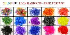 BUY 3 GET 1 FREE -600PCS LOOM BANDS BRACELET DIY MAKING SET WITH S CLIP