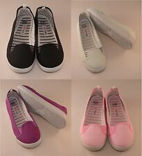 Zapatillas Lona/zapatillas, Rosa, Gris, Lila, Negro, Talla 3 to7, RT11