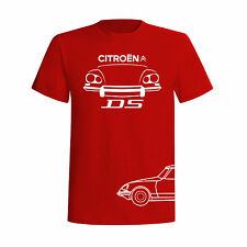 T-SHIRT CITROEN DS PALLAS FRANCE CAR OLD MOTOR FASHION