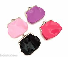 Cute Patent look pvc  Coin Purse with snap clasp closure Ladies or Girls Gift