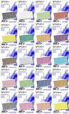 1000 Coloured Dot Stickers Self Adhesive Round Coloured Labels 30mm Plastic