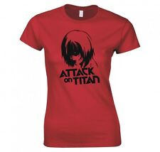"ATTACK ON TITAN, ANIME ""ANNIE LEONHART"" LADIES T-SHIRT NEW"