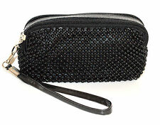 BORSELLO donna MINI pochette ragazza borsellino NERO da borsa clutch bag 1150