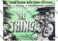 Poster The Thing From Another World Vintage Cult Sci-Fi Wall Art Print A4, A3