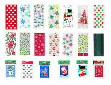 CHRISTMAS CELLO PARTY GIFT BAGS TREAT BAGS CONE BAGS