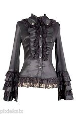 Pentagramme Long Sleeved Frilly Gothic Lolita Blouse C010020A