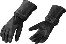 Mens Zip Off Cuff Motorcycle Gauntlet Glove w/ Cinch Wrist - Short or Long Glove