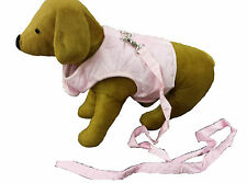 DOGGY THINGS PINK DOG PET PUPPY VEST HARNESS WITH LEAD AND ATTACHMENT REDUCED