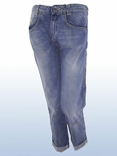 JEANS DONNA CAPRI DENIM BLU DOOR LIU JO TG IT 41 42 43 W 27 28 29