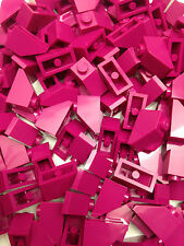 LEGO 3040 - PINK Slope Roof Tile 1X2 / 45 D. Angle - 25 Pieces Or 50 Pieces