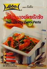 LOBO CURRY PASTE AUTHENTIC THAI 6 X CHOICES PANANG YELLOW GREEN MASAMAN SOUR