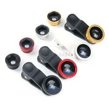 3in1 Clip On Camera Lens Fisheye +Wide Angle+Macro for iPhone Samsung HTC LG A40