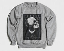 Forest Black Printed Sweater Tattoo Design Print Tee Street Art Hipster