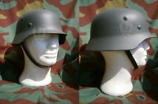 Elmetto tedesco M40, stahlhelm, casco, german helmet, Wehrmacht decal guscio