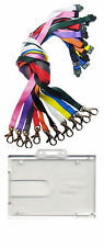 Badge Buddy Double ID Card Holder & ID Neck Strap Lanyard With Metal Clip