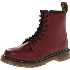 Dr Martens Delaney Junior Cherry Red Leather Ankle Boots