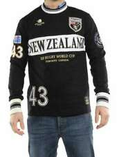 WILLIAMS WILSON MAGLIA RUGBY CAMPBELL NEW ZELAND NERO manica lunga uomo
