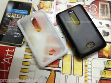 Rubber Bumper Transparent Solid Back Case Cover For Nokia Asha 501