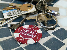 Personalised Poker / Casino Chip - save the date key ring