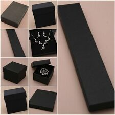 12 PACK BLACK JEWELLERY DISPLAY GIFT BOXES RING NECKLACE BULK BUY WHOLESALE
