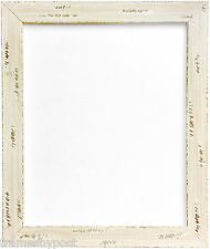 Heavily Distressed Shabby Off-White Solid Wood Photo Frame In Various Sizes 758