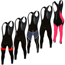 Cycling Bib Tights Padded Front Bib Winter Leggings Thermal Long Trousers Pants