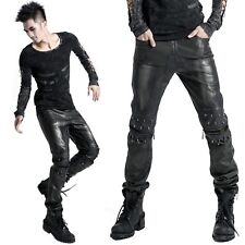 PUNK RAVE Black Metal Men Pants GOTHIC HOSE KUNSTLEDER HOSE EDEL PUNK EBM
