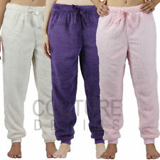 Ladies Snuggle Fleece Lounge Pants Pyjama Bottoms Plain Womens Bed Nightwear