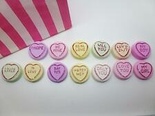 HANDMADE NOVELTY CLAY LOVE HEART PROPOSAL MARRY ME SWEETS MAGNETS HIS & HERS