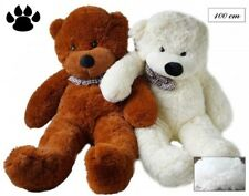 ORSACCHIOTTO ELEGANTE PELUCHE 100CM TEDDY BEAR- MORBIDO IDEA REGALO