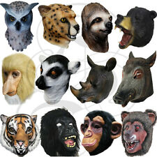 Latex Overhead Animal Jungle Chimp Gorilla Sloth Tiger Lemur Dinosaur Props Mask