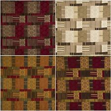 Porter & Stone Prague Patchwork Tapestry Curtain Upholstery Fabric | 4 Colours
