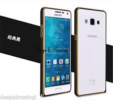 Luxury  Gold Line Round ARC Metal Bumper Cover For Samsung Galaxy A5