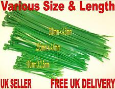 NYLON PLASTIC GREEN STRONG CABLE TIE ZIP VARIOUS QUANTITY 100mm - 300mm
