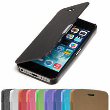 SLIM FLIP Case Apple iPhone 5 5S Tasche Handy Klapp Schutz Hülle Etui Cover