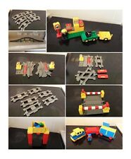 lego duplo train track battery train junction level crossing large bridge figure