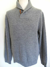 FRENCH CONNECTION Jumper Shawl Collar Wrap pullover Knit Charcoal Grey Size: XXL