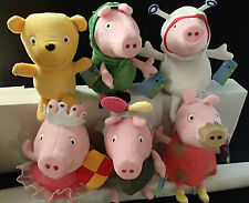 """PEPPA PIG AND GEORGE SOFT PLUSH TOY - DIFFERENT  COSTUMES  - 11"""" (28CM) BNWT"""
