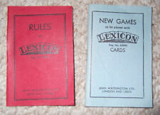 Rulebook for Vintage Lexicon card game by John Waddington Ltd: Red or blue book