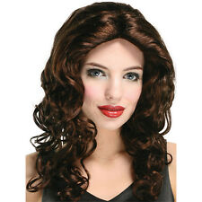 #LONG WAVY WIG BUDGET 2 COLOURS BROWN&AUBURN PARTY WIG ACCESSORY