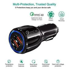 Dual Twin USB Port Car Cigarette Socket Charger + USB Cable For HTC Mobile Phone