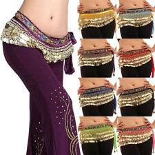 HAND MADE BELLY DANCE SKIRT COSTUME BELT HIP WRAP SCARF GOLD COINS Summer Party