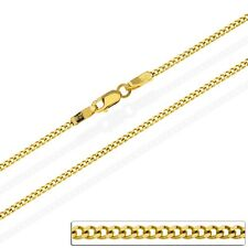 2mm Panzerkette Massiv 585 Gold Goldkette Herren Damen Halskette Collier 40-60cm