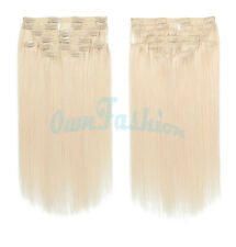 22 INCH 100% Remy Human Full Head Clip In Hair Extensions